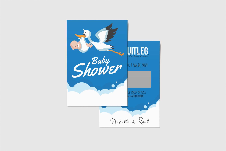 Krascards.nl - Iets (unieks) vertellen? Dat doe je met een Persoonlijke Baby Shower Spel kraskaart.