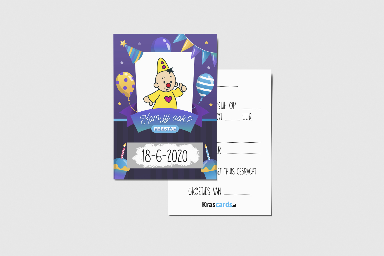 Krascards.nl - Iets (unieks) vertellen? Dat doe je met een Bumba Uitnodigingkraskaart.