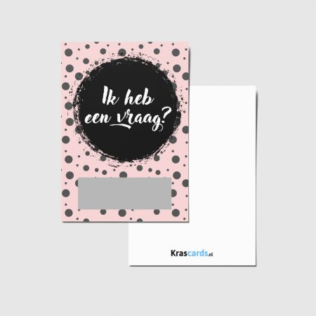 Krascards.nl - Iets (unieks) vertellen? Dat doe je met een Pink Dots kraskaart.