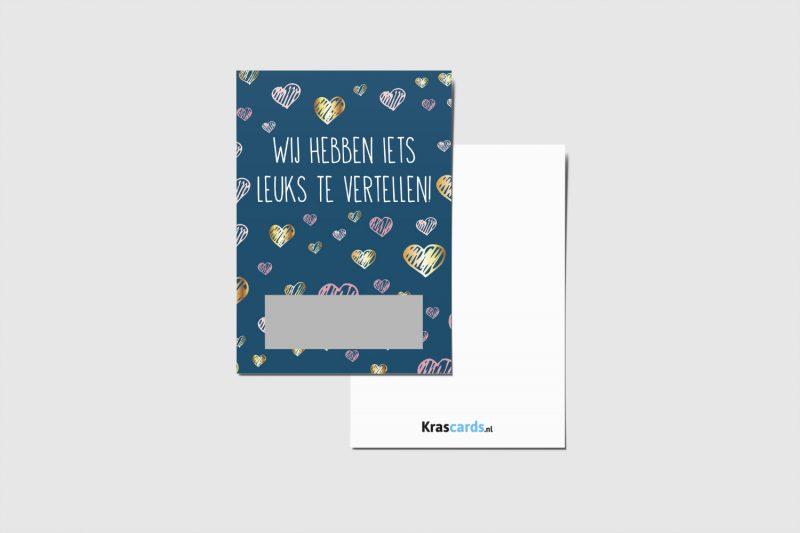 Krascards.nl - Iets (unieks) vertellen? Dat doe je met een Iets Leuks Vertellen Heartskraskaart.