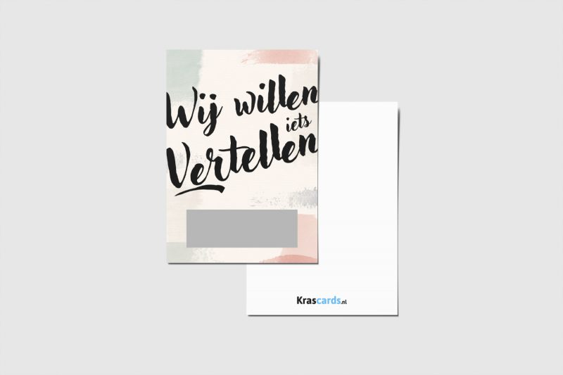 Krascards.nl - Iets (unieks) vertellen? Dat doe je met een Iets Vertellen kraskaart.