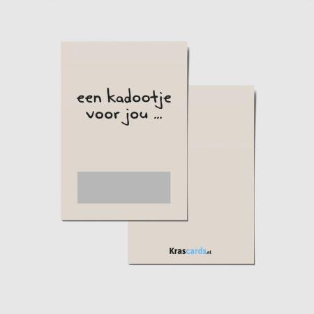 Krascards.nl - Iets (unieks) vertellen? Dat doe je met een Kadootje voor jou... kraskaart.